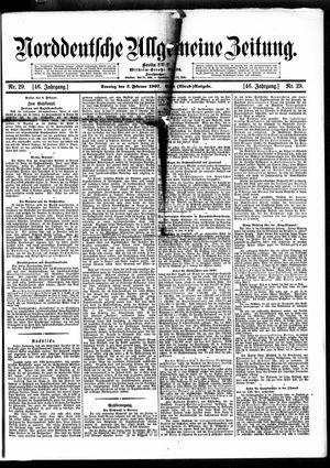 Norddeutsche allgemeine Zeitung vom 03.02.1907