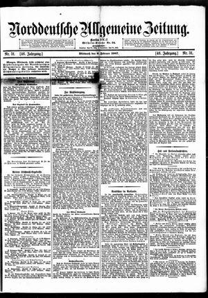 Norddeutsche allgemeine Zeitung vom 06.02.1907