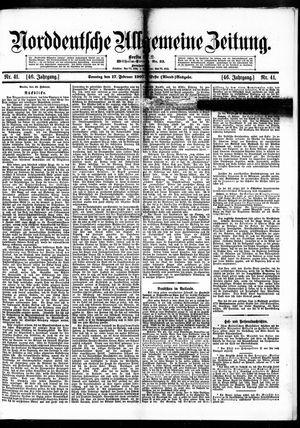 Norddeutsche allgemeine Zeitung vom 17.02.1907
