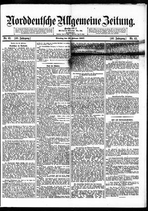 Norddeutsche allgemeine Zeitung vom 19.02.1907