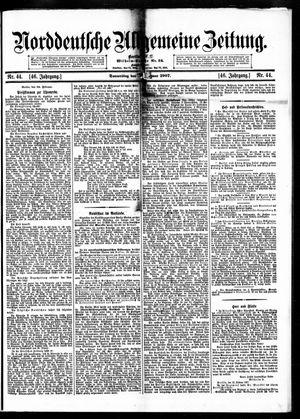 Norddeutsche allgemeine Zeitung vom 21.02.1907