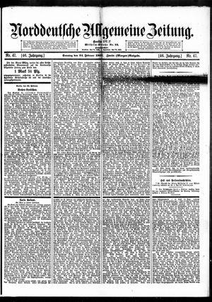 Norddeutsche allgemeine Zeitung vom 24.02.1907