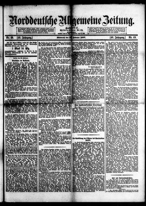 Norddeutsche allgemeine Zeitung vom 27.02.1907