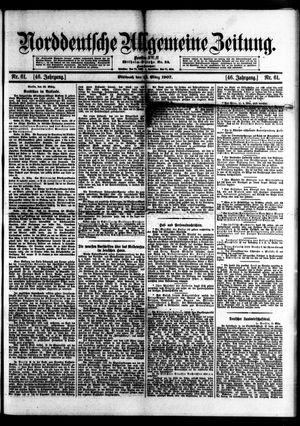 Norddeutsche allgemeine Zeitung vom 13.03.1907