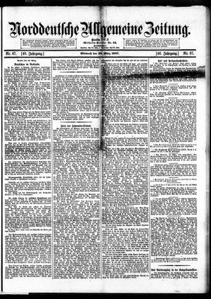 Norddeutsche allgemeine Zeitung vom 20.03.1907
