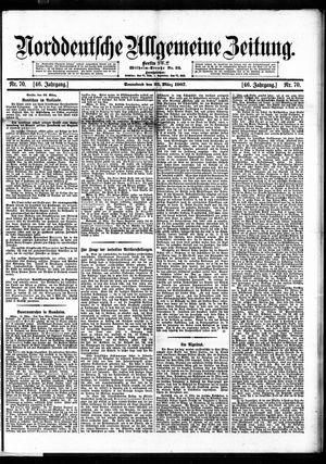 Norddeutsche allgemeine Zeitung vom 23.03.1907