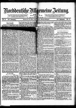 Norddeutsche allgemeine Zeitung vom 24.03.1907