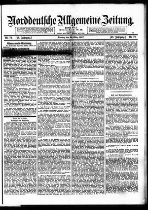 Norddeutsche allgemeine Zeitung vom 26.03.1907