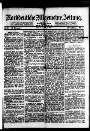 Norddeutsche allgemeine Zeitung vom 03.04.1907