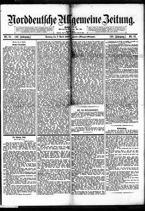 Norddeutsche allgemeine Zeitung vom 07.04.1907