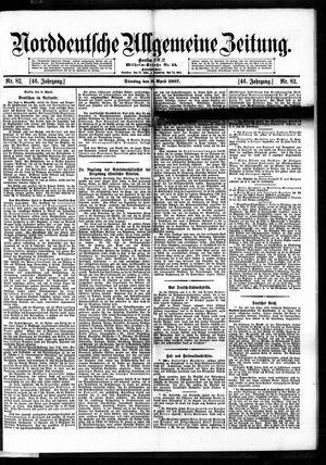 Norddeutsche allgemeine Zeitung vom 09.04.1907