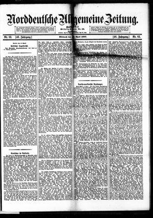 Norddeutsche allgemeine Zeitung vom 10.04.1907