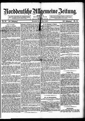 Norddeutsche allgemeine Zeitung vom 13.04.1907