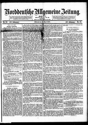 Norddeutsche allgemeine Zeitung vom 17.04.1907