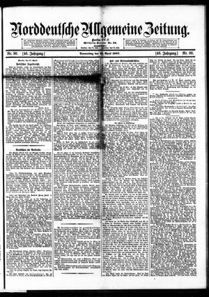 Norddeutsche allgemeine Zeitung vom 18.04.1907