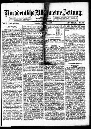 Norddeutsche allgemeine Zeitung vom 20.04.1907