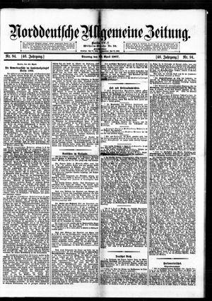 Norddeutsche allgemeine Zeitung vom 23.04.1907
