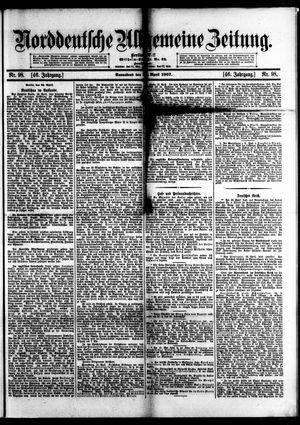Norddeutsche allgemeine Zeitung vom 27.04.1907