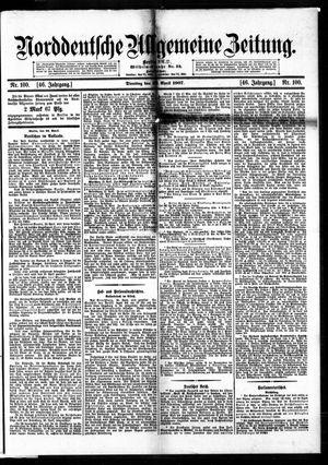 Norddeutsche allgemeine Zeitung vom 30.04.1907