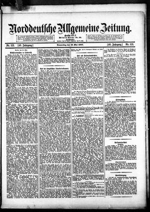 Norddeutsche allgemeine Zeitung vom 16.05.1907