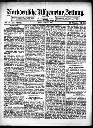 Norddeutsche allgemeine Zeitung vom 05.06.1907