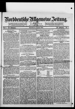 Norddeutsche allgemeine Zeitung vom 04.01.1913
