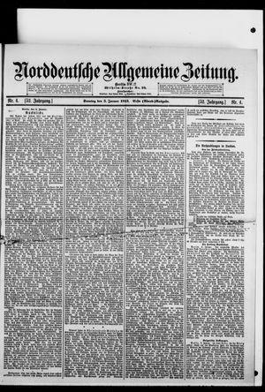 Norddeutsche allgemeine Zeitung vom 05.01.1913