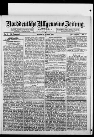 Norddeutsche allgemeine Zeitung vom 08.01.1913