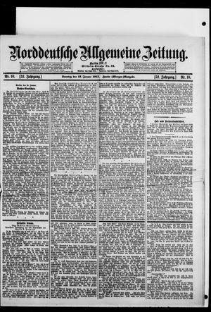 Norddeutsche allgemeine Zeitung vom 12.01.1913