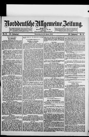 Norddeutsche allgemeine Zeitung on Jan 16, 1913