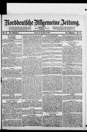 Norddeutsche allgemeine Zeitung vom 17.01.1913