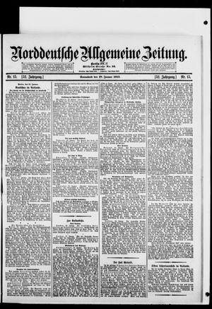 Norddeutsche allgemeine Zeitung vom 18.01.1913