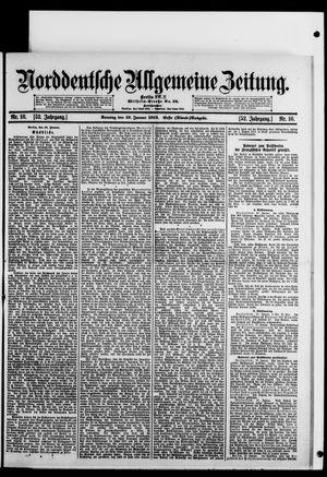 Norddeutsche allgemeine Zeitung vom 19.01.1913