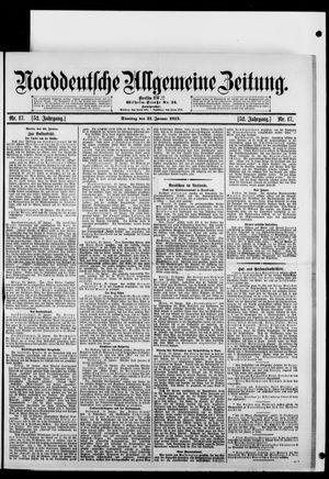 Norddeutsche allgemeine Zeitung vom 21.01.1913