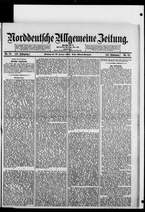 Norddeutsche allgemeine Zeitung vom 26.01.1913