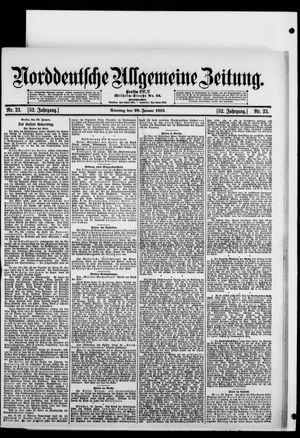 Norddeutsche allgemeine Zeitung vom 28.01.1913
