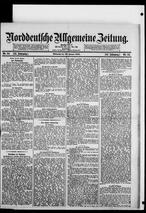 Norddeutsche allgemeine Zeitung vom 29.01.1913