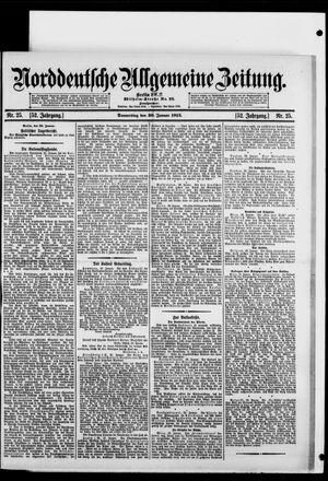 Norddeutsche allgemeine Zeitung vom 30.01.1913