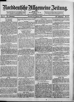 Norddeutsche allgemeine Zeitung vom 01.02.1913