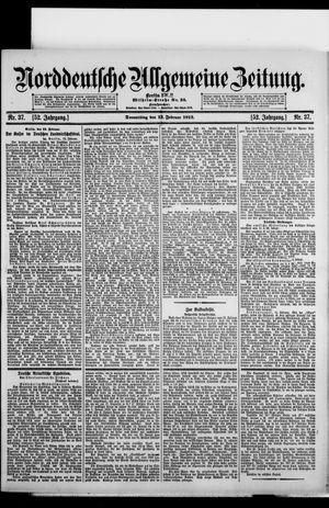 Norddeutsche allgemeine Zeitung vom 13.02.1913