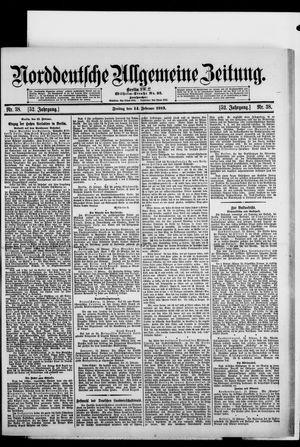 Norddeutsche allgemeine Zeitung vom 14.02.1913