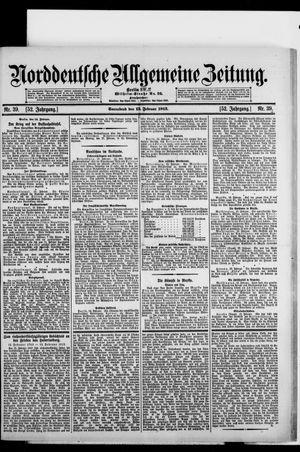Norddeutsche allgemeine Zeitung vom 15.02.1913