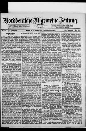 Norddeutsche allgemeine Zeitung vom 16.02.1913