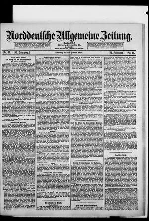Norddeutsche allgemeine Zeitung vom 18.02.1913