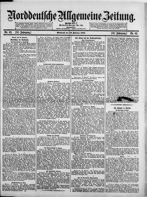Norddeutsche allgemeine Zeitung vom 19.02.1913
