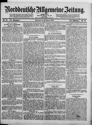 Norddeutsche allgemeine Zeitung vom 22.02.1913