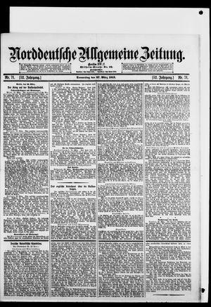 Norddeutsche allgemeine Zeitung vom 27.03.1913