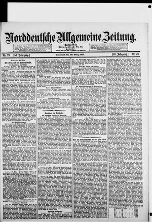Norddeutsche allgemeine Zeitung vom 29.03.1913
