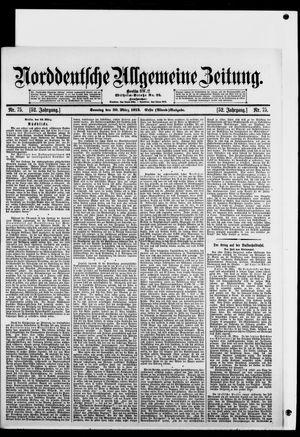 Norddeutsche allgemeine Zeitung vom 30.03.1913