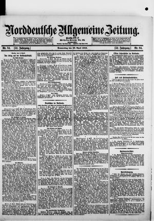 Norddeutsche allgemeine Zeitung vom 10.04.1913